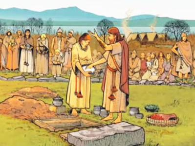 Une cérémonie funéraire à Vidy