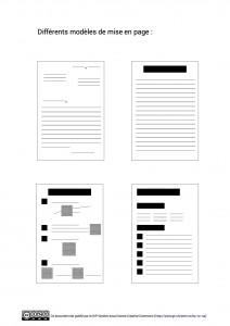 Modeles de mise en page