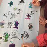 Sérigraphie: Impressions réunies en collectif et mise en couleurs
