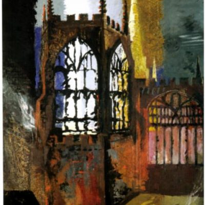 John Piper / Cathédrale de Coventry / 1940 © Revue LISA