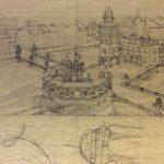 Projet de Monument de la Réforme et d'Hôtel de Ville sur l'île de la Cité (dessin)