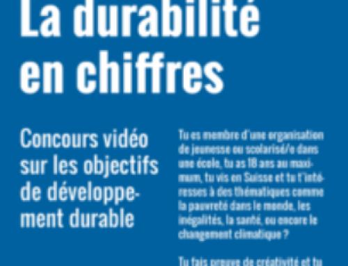 """Concours vidéo national pour les jeunes de 14 à 18 ans """"La durabilité en chiffres"""""""