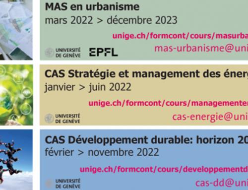 Formation continue UNIGE en environnement et développement durable