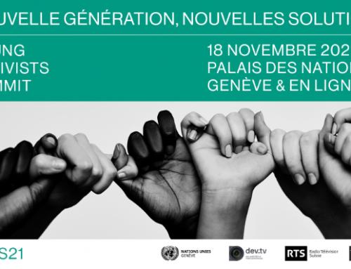 Le Sommet des jeunes activistes est de retour  le 18.11 à l'ONU: inscriptions ouvertes !