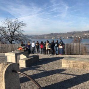 Devant le lac de Zürich