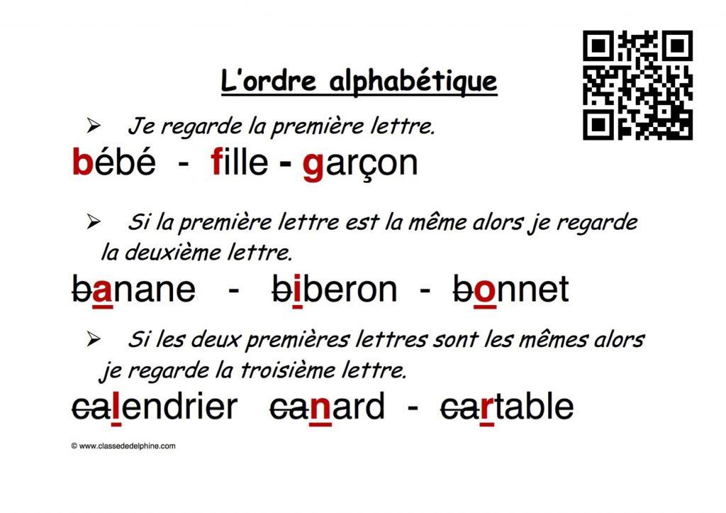 Ordre alphabetique QR