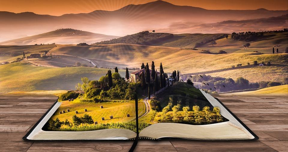 Livre ouvert paysage