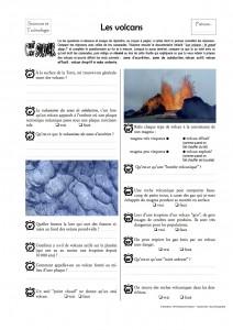 Volcan c'est pas sorcier questionnaire