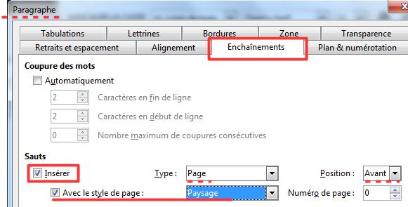 Insérer Une Page Paysage Dans Un Document Texte