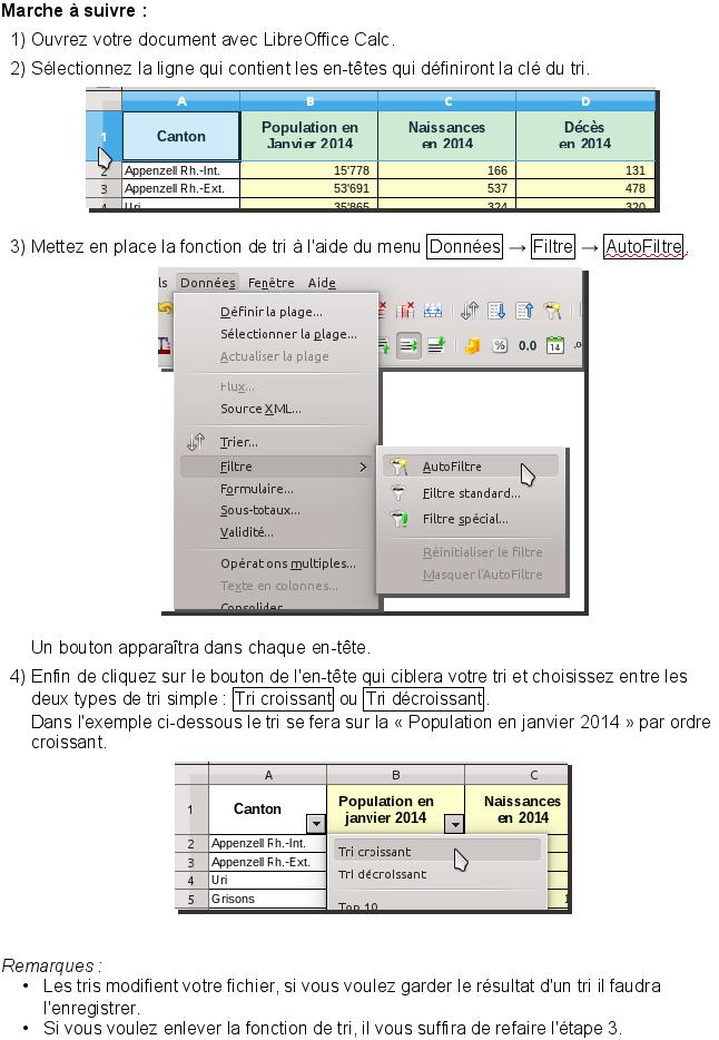 Trier simplement et rapidement avec LibreOffice Calc