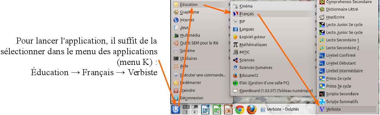 Verbiste Systeme De Conjugaison Francaise Utilisation Logiciel