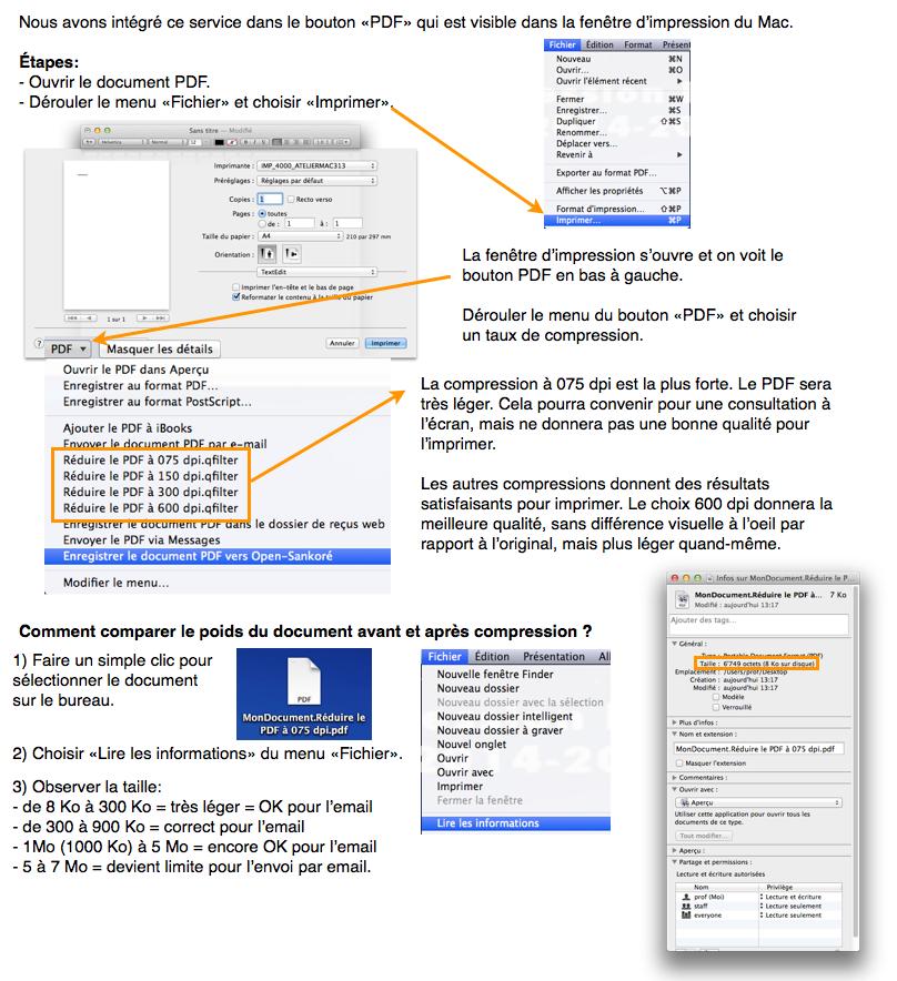 comment diminuer la taille dun pdf sur mac